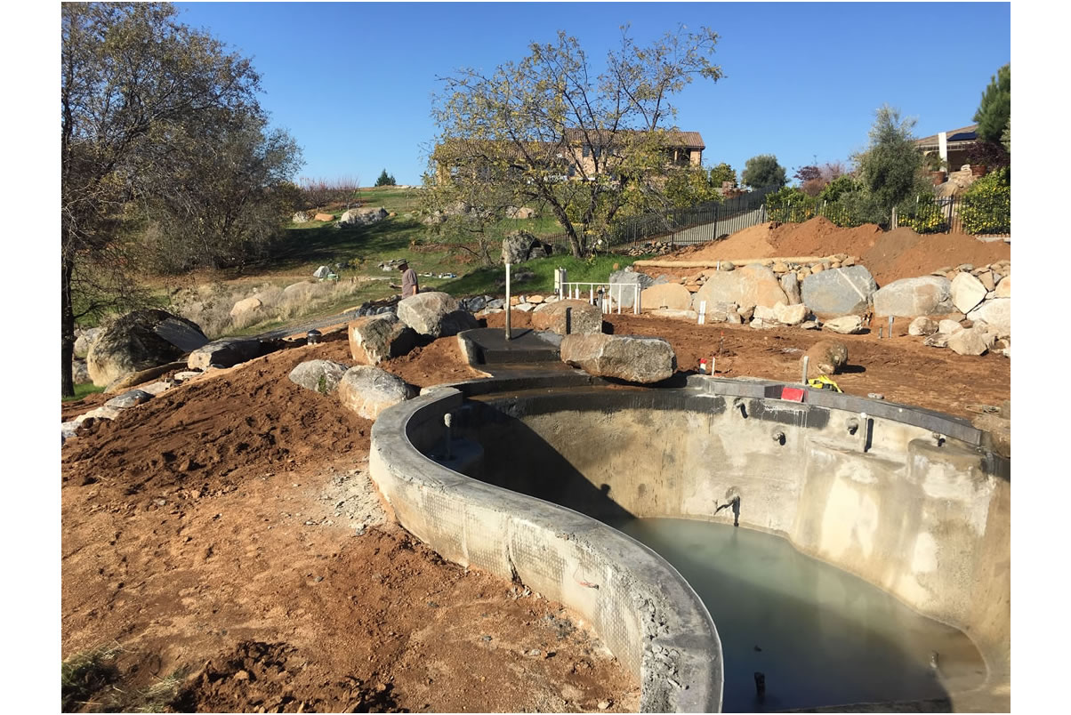 Sacramento Pool Builder during Construction