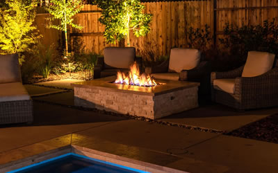 Sacramento Pool Builder gallery Fire Features